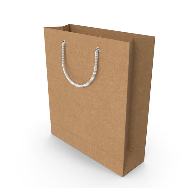 Craft Shopping Bag with White Handles