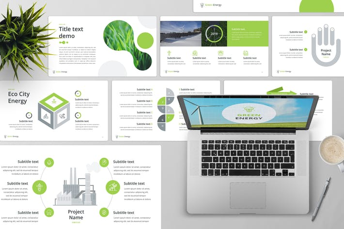 Cover Image For Green Energy Keynote Template