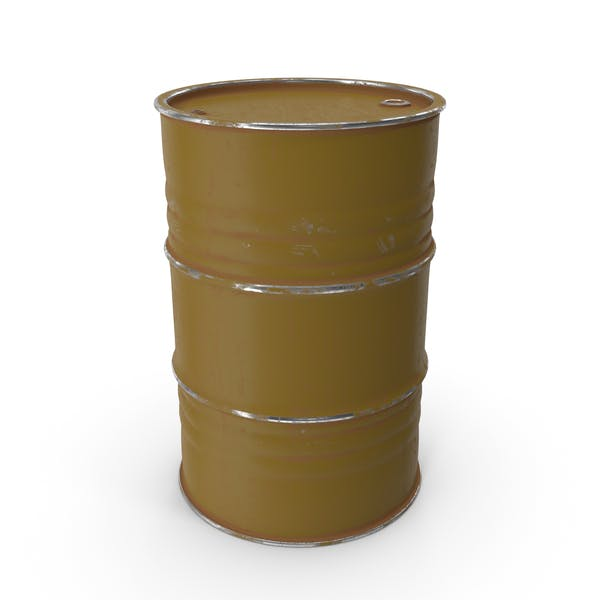 Metal Barrel Painted Brown