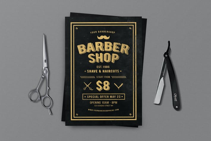 Barber Shop Flyer By Lilynthesweetpea On Envato Elements
