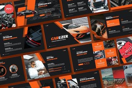 Caruzer Automotive Powerpoint Template