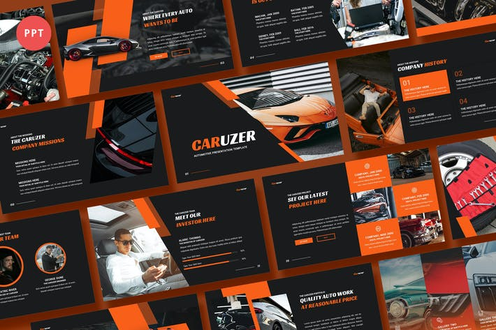 Thumbnail for Caruzer Automotive Powerpoint Template
