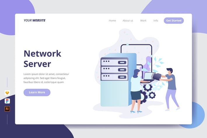 Thumbnail for Network Server - Landing Page