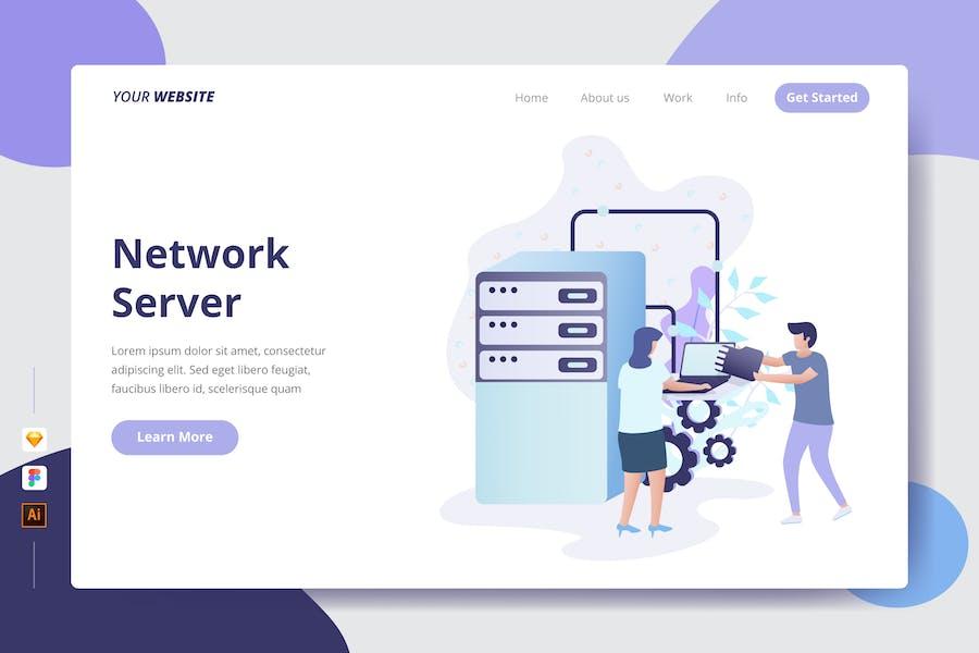 Network Server - Landing Page