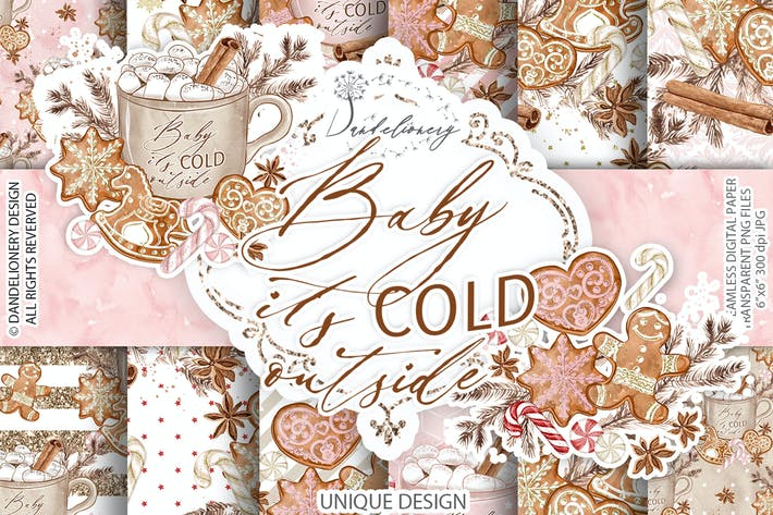 Thumbnail for Gingerbread Watercolor Clipart