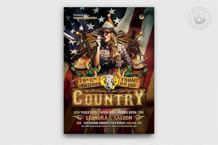 Thumbnail for Country Live Flyer Template V1