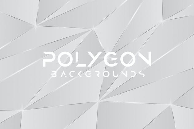 Glitter Silver Polygon Backgrounds