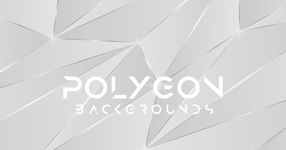 Download Glitter Silver Polygon Backgrounds by themefire