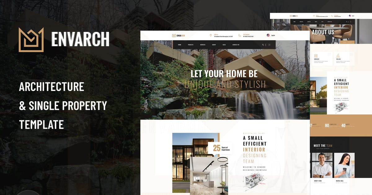 Download EnvArch - Architecture and Property XD Template by envalab