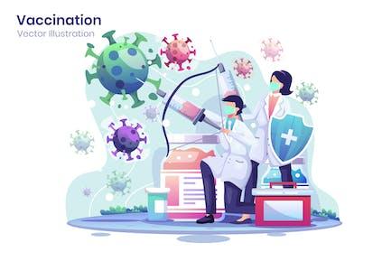 Vaccine Flat Illustration - Agnytemp
