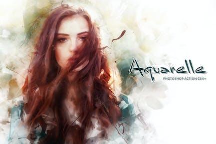 Aquarelle CS4+ Photoshop Action