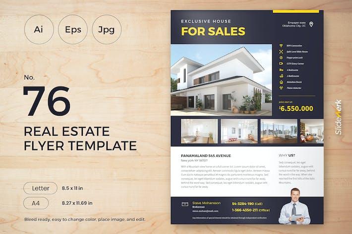 Thumbnail for Real Estate Flyer Template 76 - Slidewerk