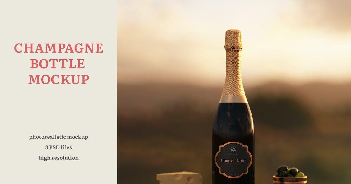 Download Champagne Bottle Mockup by professorinc