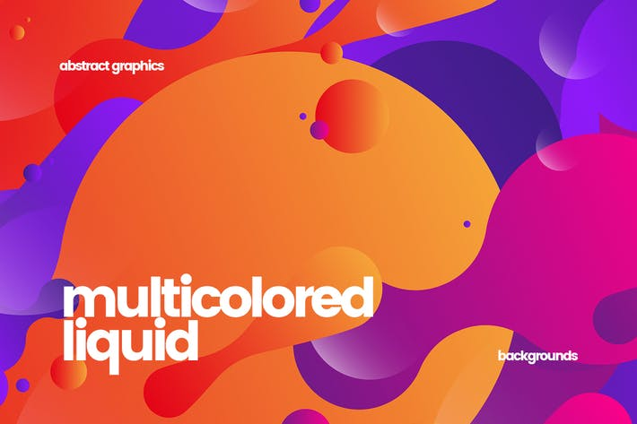 Thumbnail for Flat Multicolored Fluid Backgrounds