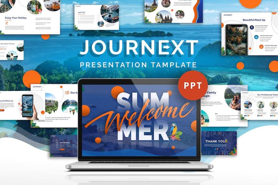 Journext - Шаблон Powerpoint поездки
