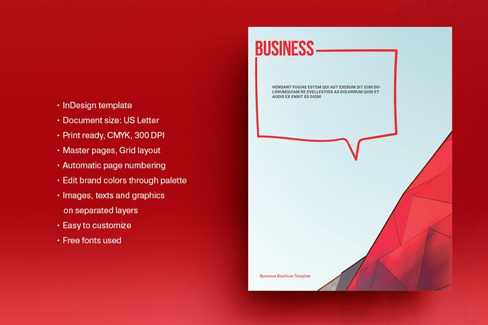 Thumbnail for Red Business Brochure Template