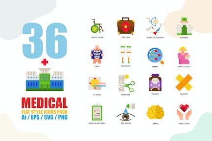 Medical Flat Style Icon set