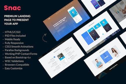 Snac - Premium App Landing Page HTML5 Vorlage