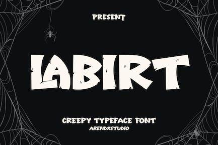 Labirt - Fuente de tipografía espeluznante
