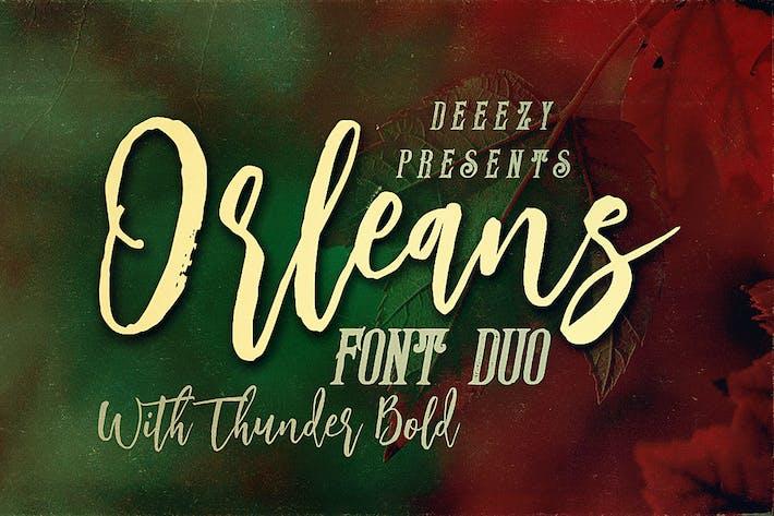 Thumbnail for Orleans Script Font Duo