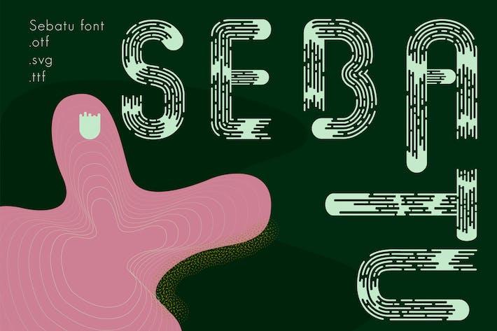 Thumbnail for Sebatu modern font