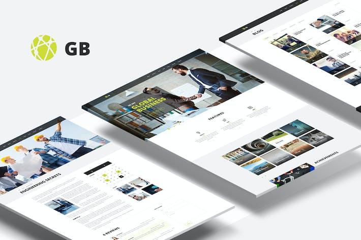 Thumbnail for GB — Multipurpose Global Business Portfolio PSD