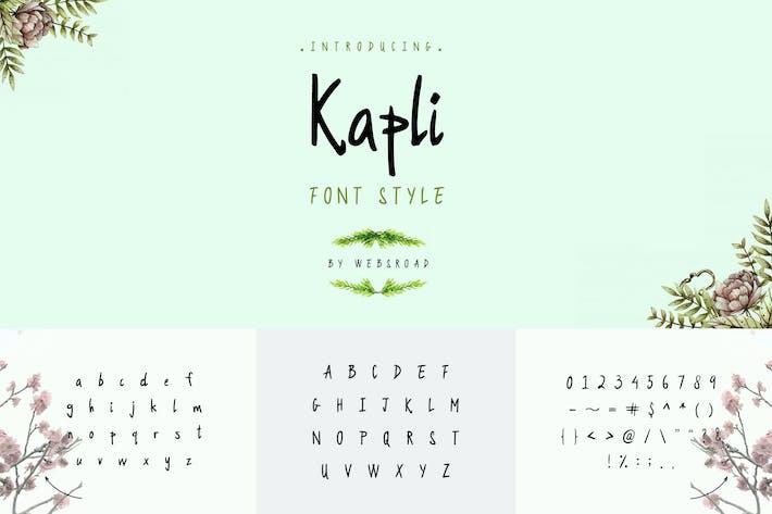 Thumbnail for Kapli - Custom Handmade Font Style