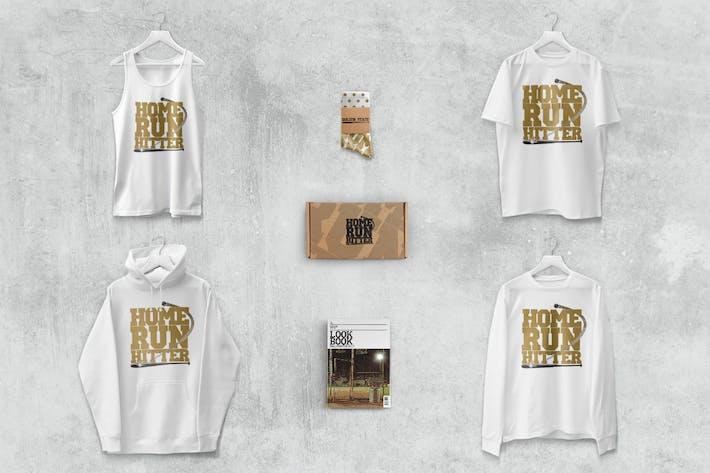 Thumbnail for Tank T-shirt Manga Largo Sudadera con capucha Mockup