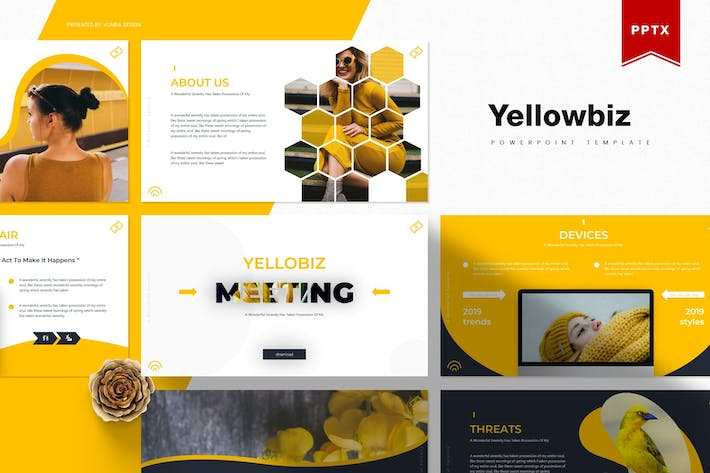 Thumbnail for Yellowbiz | Powerpoint Template