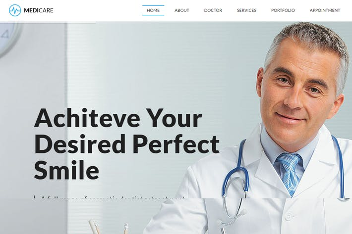 Thumbnail for MediCare – Dentist, Medical HTML5 Template