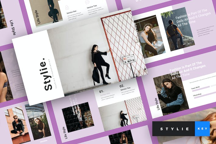 Thumbnail for Stylie - Fashion Keynote Template