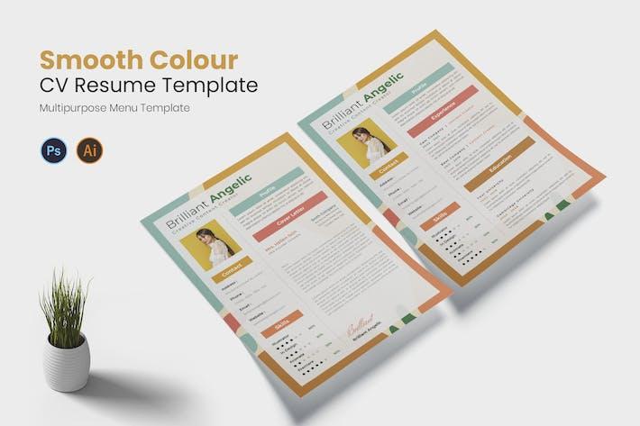 Thumbnail for Lebenslauf mit glatter Farbe