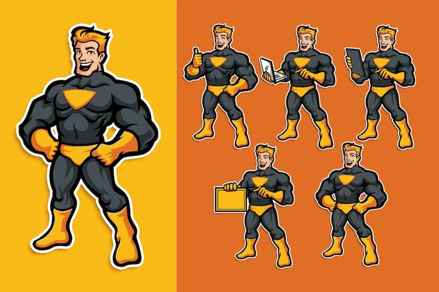 Superhero Mascot Character Pack