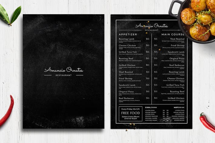 Thumbnail for Blackboard Food Menu. 27