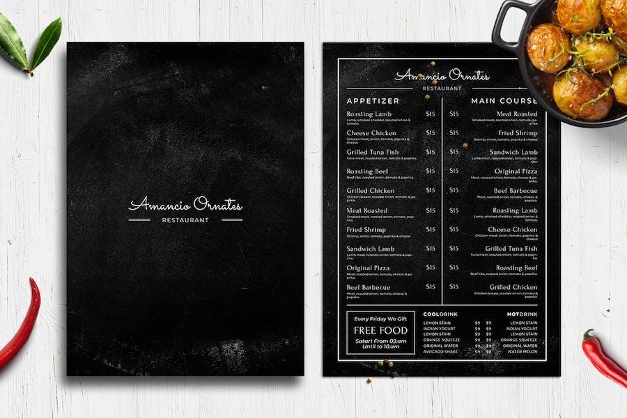 Blackboard Food Menu. 27