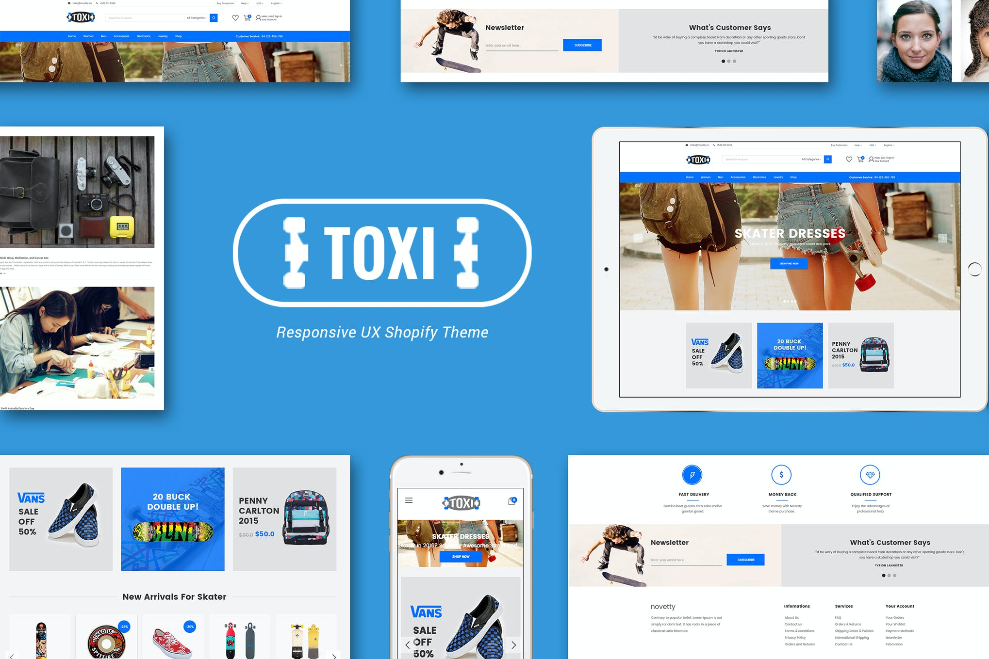 Toxi Responsive Skater Shopify Theme