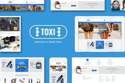 Toxi Responsivo Skater Shopify Tema