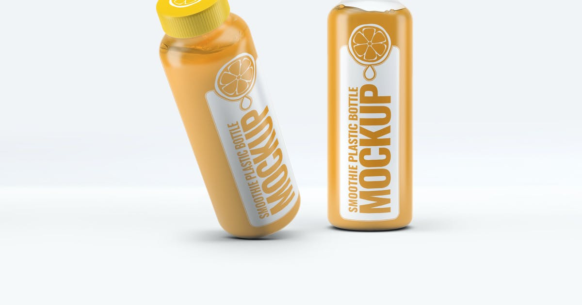 Download Smoothie Plastic Bottle Mock-Up by L5Design
