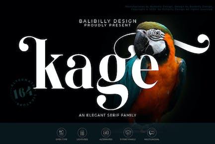 Kage - Una tipografía elegante Con serifa