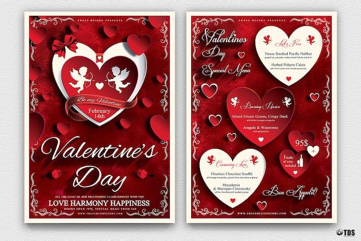 Thumbnail for Valentines Day Flyer + Menu Bundle V1