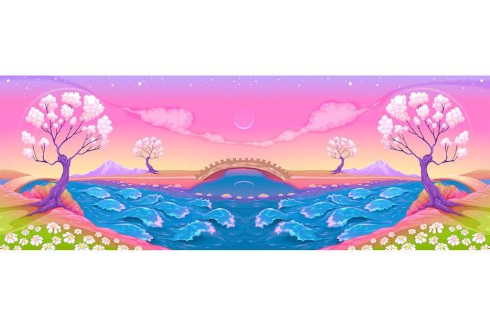 Thumbnail for Фантазия Пейзаж с реки