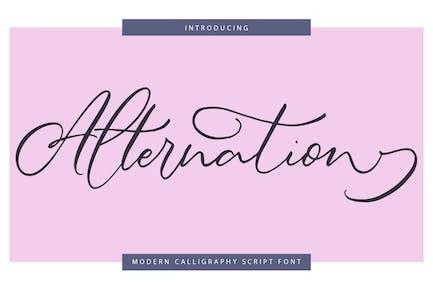 Alternation | Modern Calligraphy Script Font