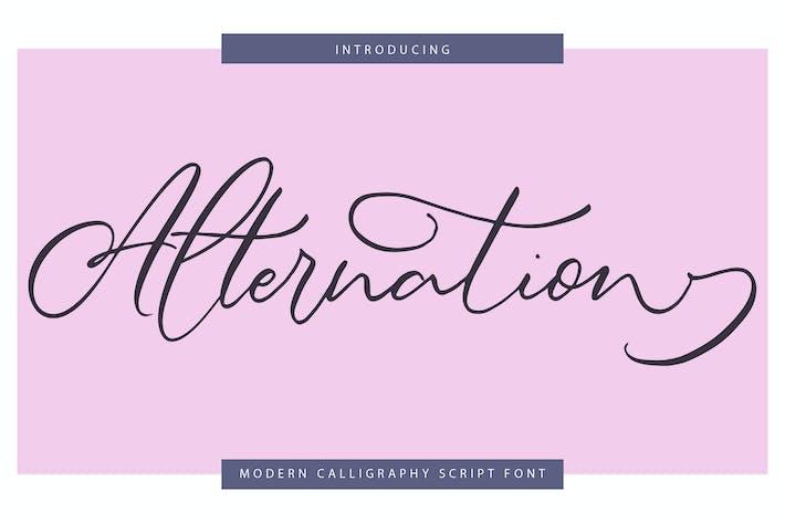 Thumbnail for Alternation | Modern Calligraphy Script Font