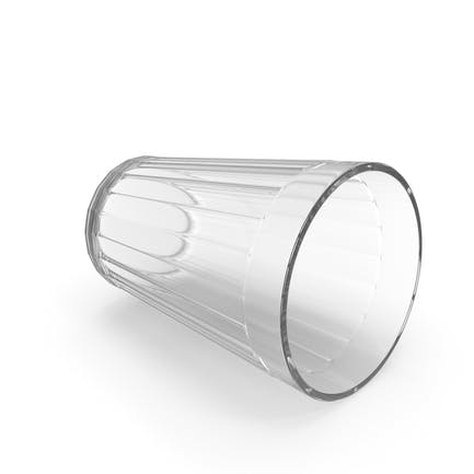 Classic Twenty Facet Soviet Table Glass on Side