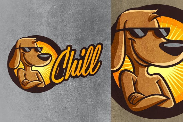 Thumbnail for Chill Dog Mascot - Pet Logo