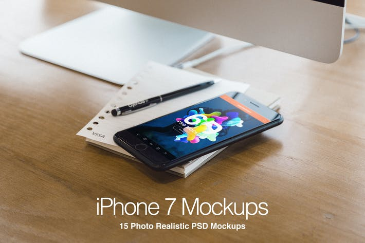 Thumbnail for iPhone 7 Plus Realistic PSD Mockups