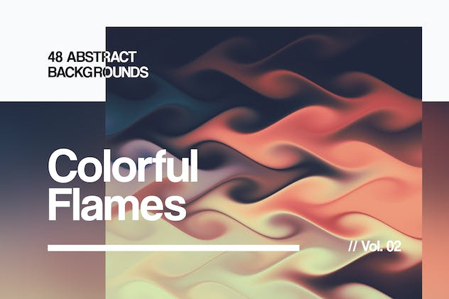 Colorful Flames | Abstract Backgrounds | Vol. 02