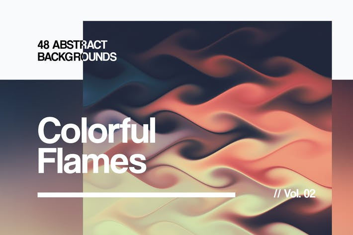 Cover Image For Colorful Flames | Abstract Backgrounds | Vol. 02