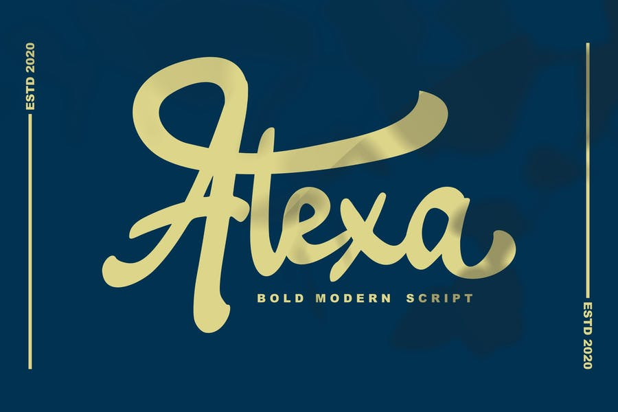 Alexa Modern script