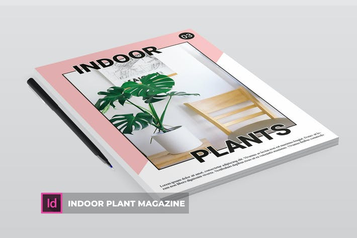 Thumbnail for Indoor plant | Magazine Template